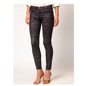 Current/Elliott The Stiletto Jeans in Silver Foil
